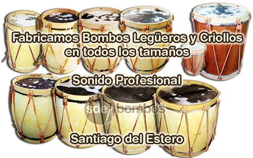 bombo legüero profesional 35-37x46 cm santiagueño garantia