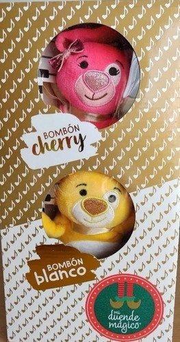 bombon cherry y bombon blanco mi duende magico peluche
