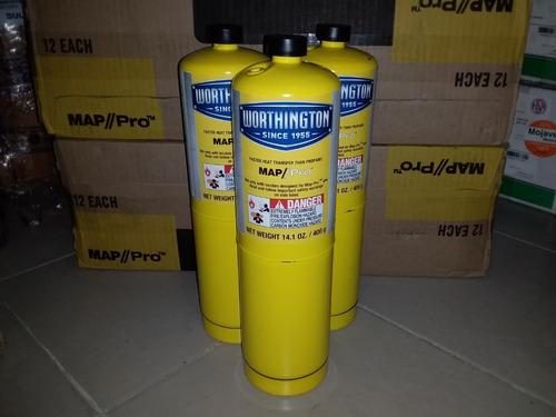 bombona amarilla para soldar propano map pro 400 gr