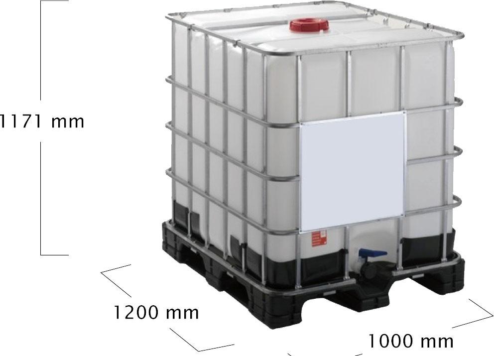Bombona container ibc 1000 litros usadas com grade de Estanque ibc 1000 litros