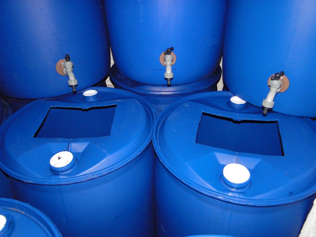 Bombona plastico tambores 200 litros r 89 00 em mercado for Tambores para agua
