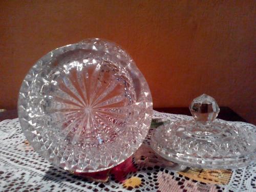 bombonera grande cristal d´ arques poco uso como  nueva