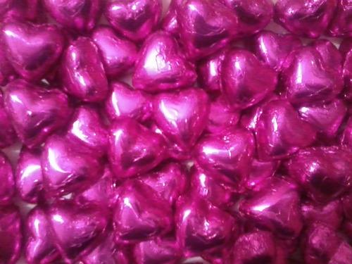 bombones chocolate corazon rellenos envueltos souvenir