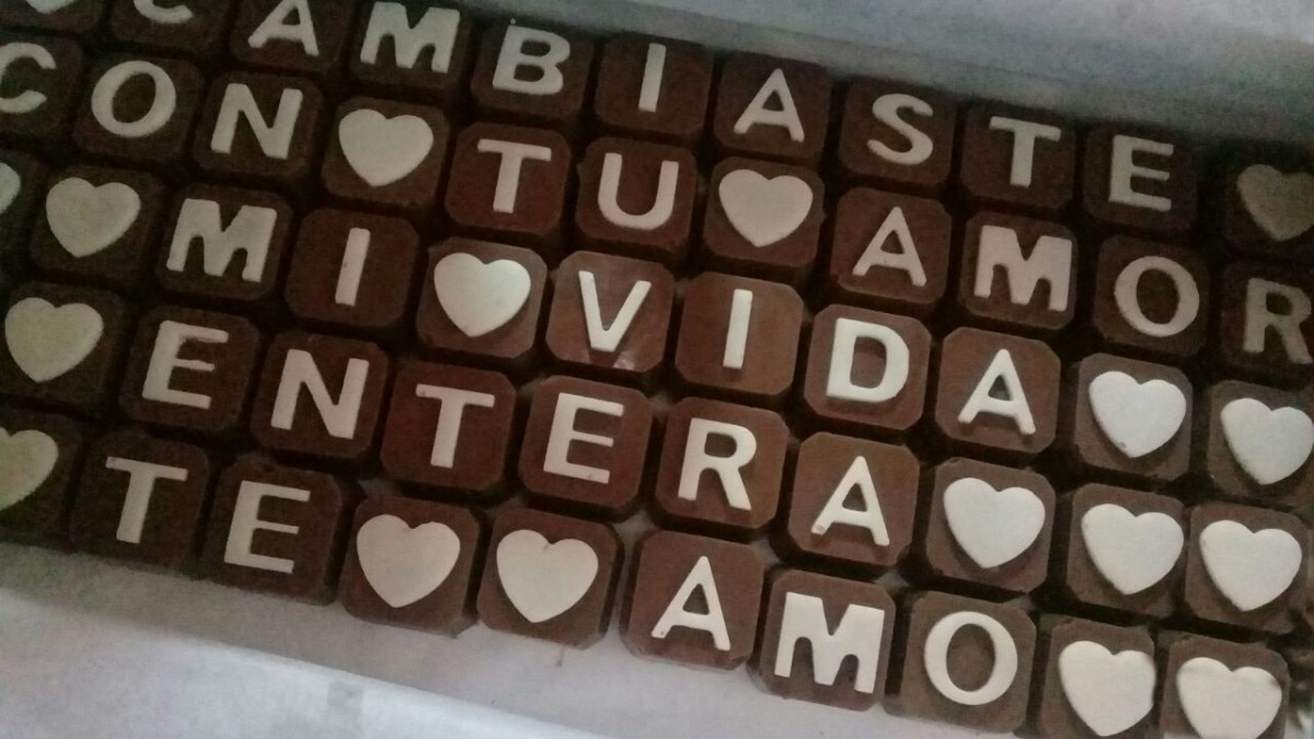 Bombones Chocomensaje Frase De Chocolate