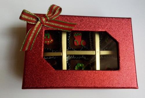 bombones de chocolate, un dulce regalo para esta navidad!!!