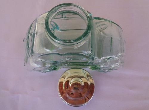 bomboniere baleiro de vidro em formato de um fusca