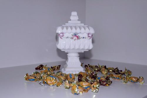 bombonierie compoteira baleiro pote taça cristal opalina