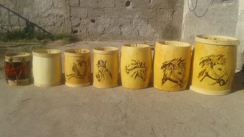 bombos legueros tallados ceibo santiago  35/36/37 x 46