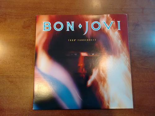 bon jovi - 7800° fahrenheit ed. japonesa + inserto + poster