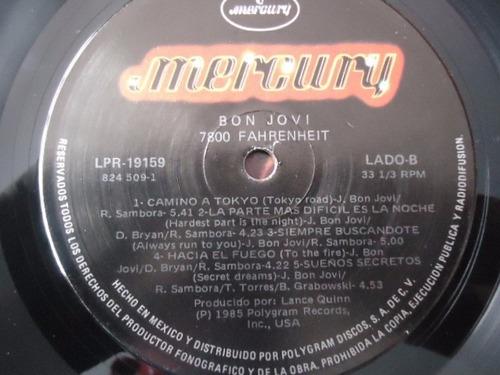 bon jovi / 7800° fahrenheit vinyl lp acetato