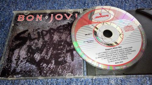 bon jovi cd imported slippery when wet, excelente