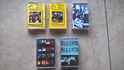 bon jovi lote 5 cassettes importados egipto y méxico