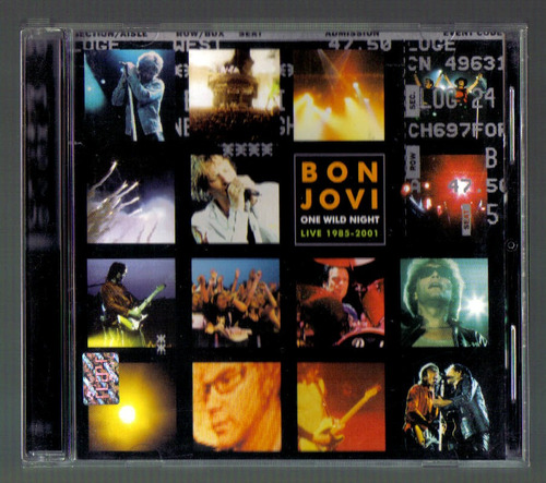 bon jovi one wild night cd 1a ed 2001 c/ booklet au1