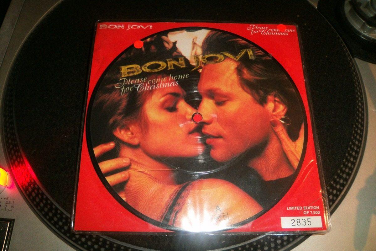 Bon Jovi Please Come Home For Christmas Vinilo 7 Picture - $ 700,00