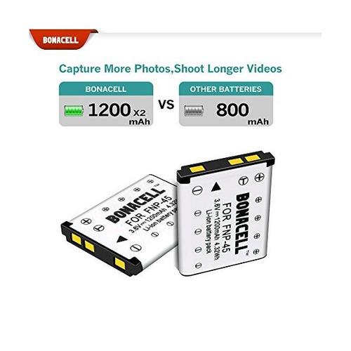 bonacell 2 reemplazo del paquete de baterías fujifilm np-45