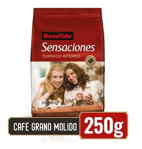 bonafide café en grano molido sensaciones 250gr
