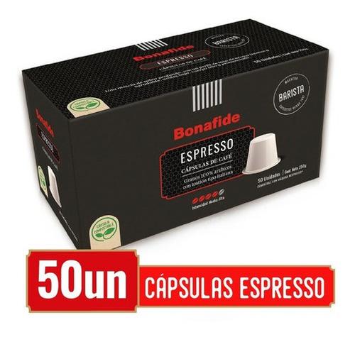 bonafide cápsulas de café - espresso 100% compostables 50und