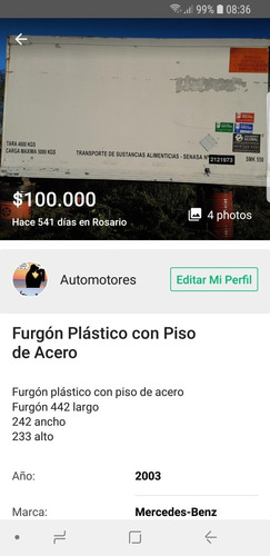 bonano  furgón plástico