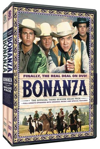 bonanza temporada 3 tres volumenes 1 y 2 serie tv en dvd