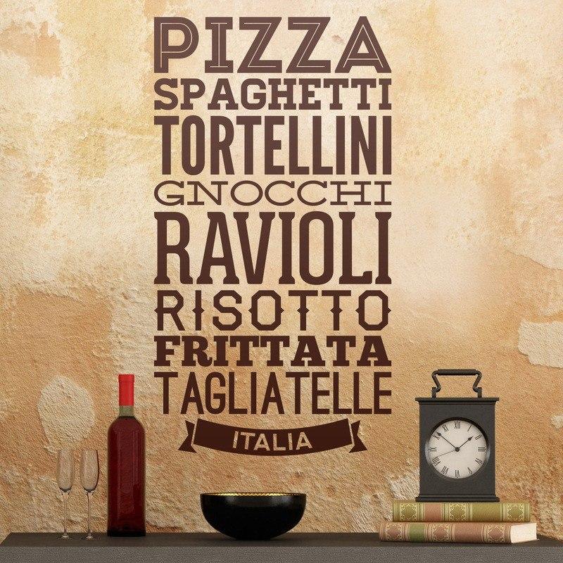 Bondai Vinilos Decorativos Cocina Frase Italia Comidas