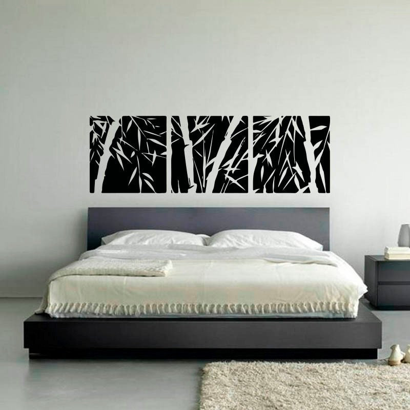 Vinilos decorativos dormitorio matrimonio vinilo encima - Cabecero de bambu ...
