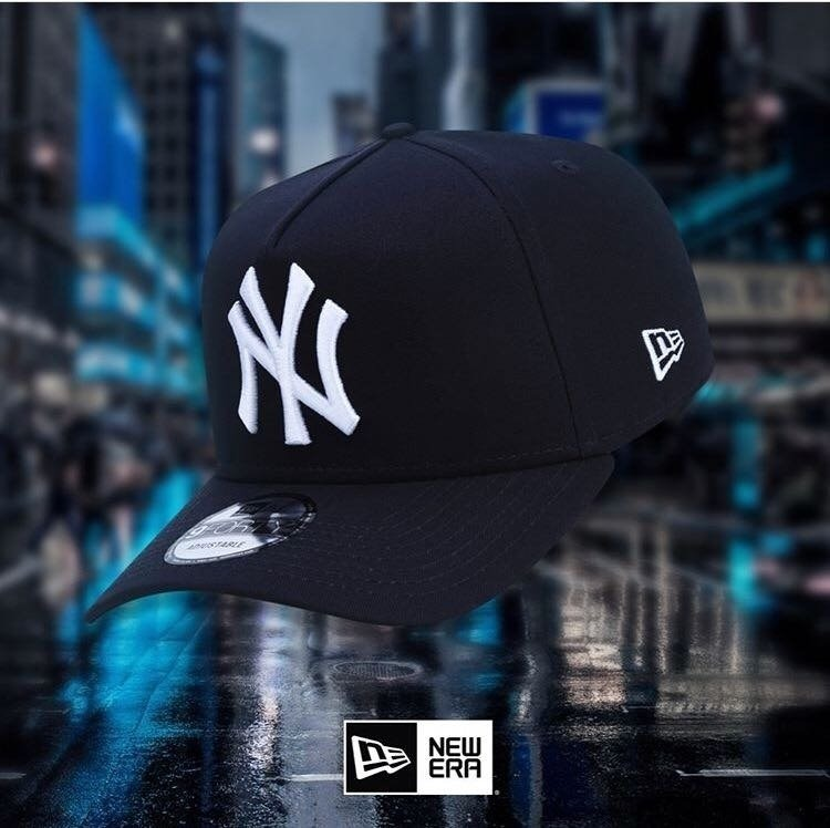 30343925f Boné 940 New York Yankees Mlb A-frame Aba Curva Azul Marinho - R ...