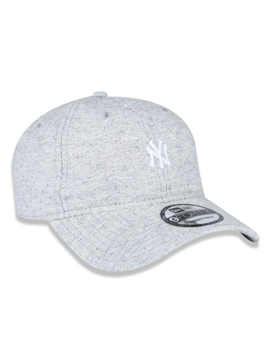 Bone 940 New York Yankees Mlb Aba Curva Mescla Cinza New Era - R  160 4444f0cf005