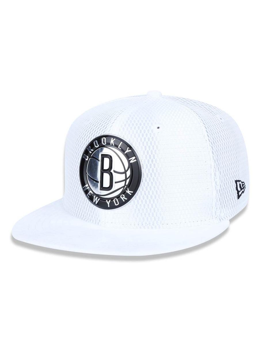 e32a5801a9386 Bone 950 Brooklyn Nets Nba Aba Reta Snapback Branco New Era - R  111 ...