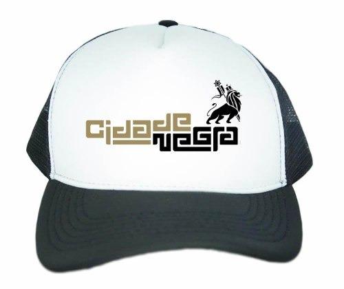 Boné Aba Curva Banda Cidade Negra Promoção - R  35 d7bd0da6bfe