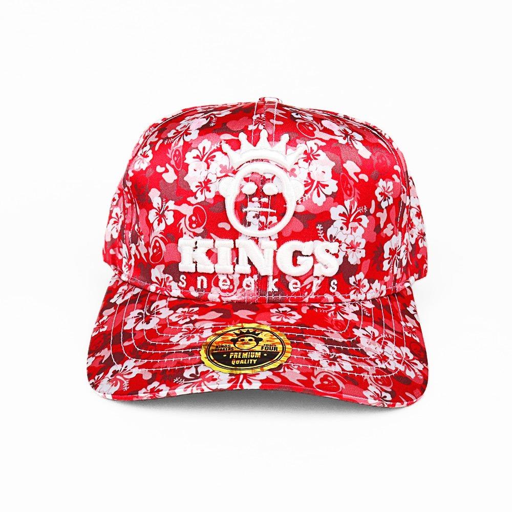 e09ef9de5c5de boné aba curva kings sneakers flowers vermelho original. Carregando zoom.
