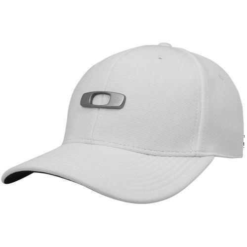2541a25eb6361 Boné Aba Curva Oakley Metal Gascan 2.0 Branco Flexfit  2 - R  65