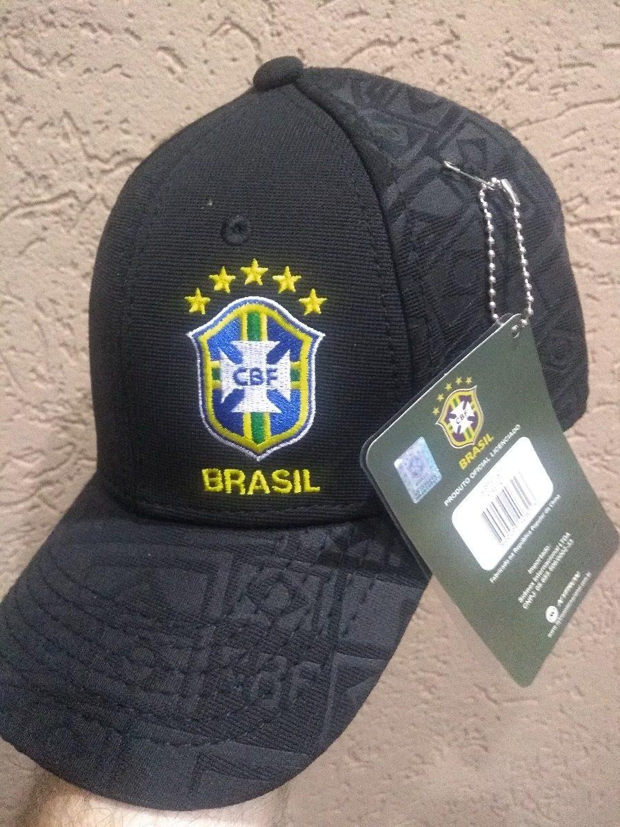 bone aba curva oficial da seleção brasileira cbf preto. Carregando zoom. 14c2266001c