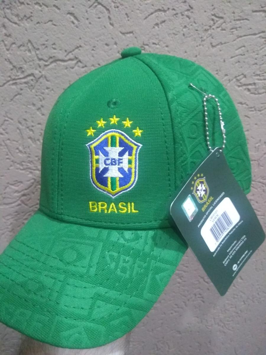 cb2575d036b84 bone aba curva oficial da seleção brasileira cbf verde. Carregando zoom.