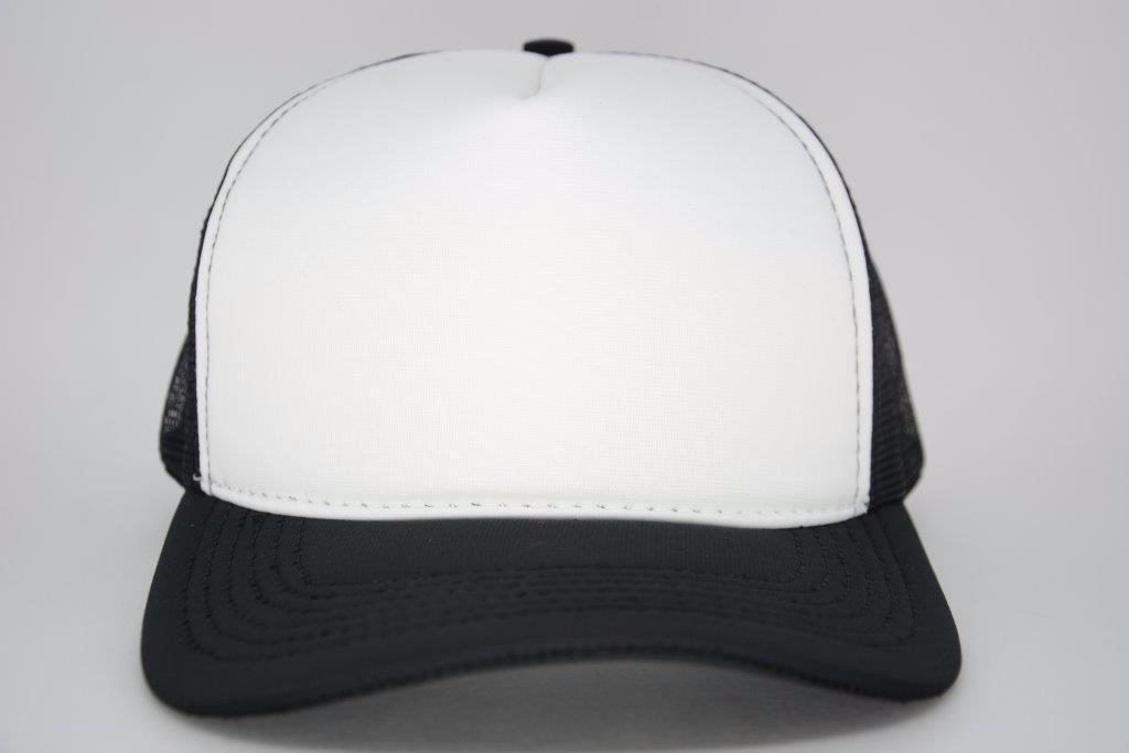 boné aba curva redinha liso trucker branco preto. Carregando zoom. 6d79dd60e40