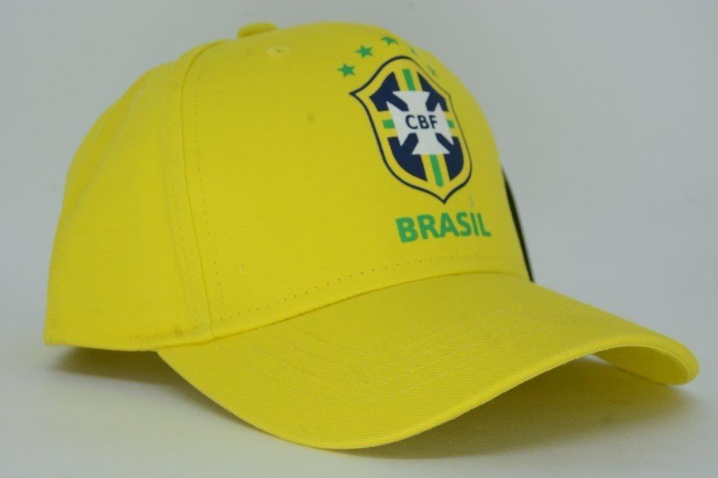 2b5f74d1884e2 boné aba curva seleção brasileira oficial cbf amarelo. Carregando zoom.