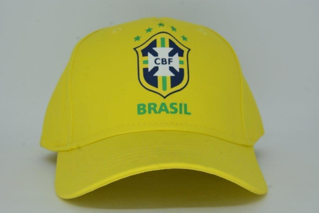 boné aba curva seleção brasileira oficial cbf amarelo. Carregando zoom. e550c582947