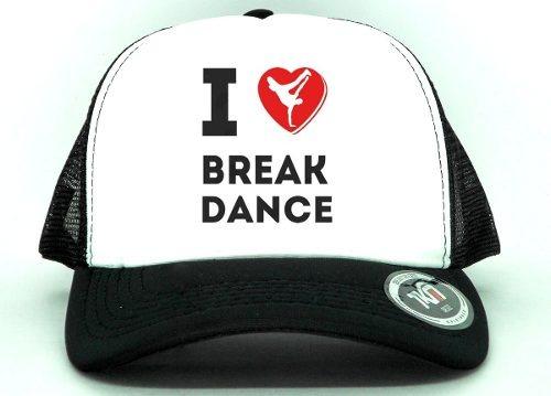 346ddb4c9a Boné Aba Curva Trucker Eu Amo Break Dance Dança - R$ 35,00 em ...