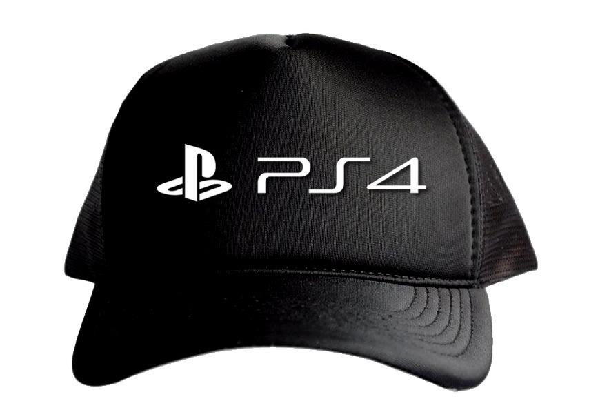 2894916bd0506 Boné Aba Curva Trucker Preto Ps4 Playstation 4 Promoção Top - R  34 ...