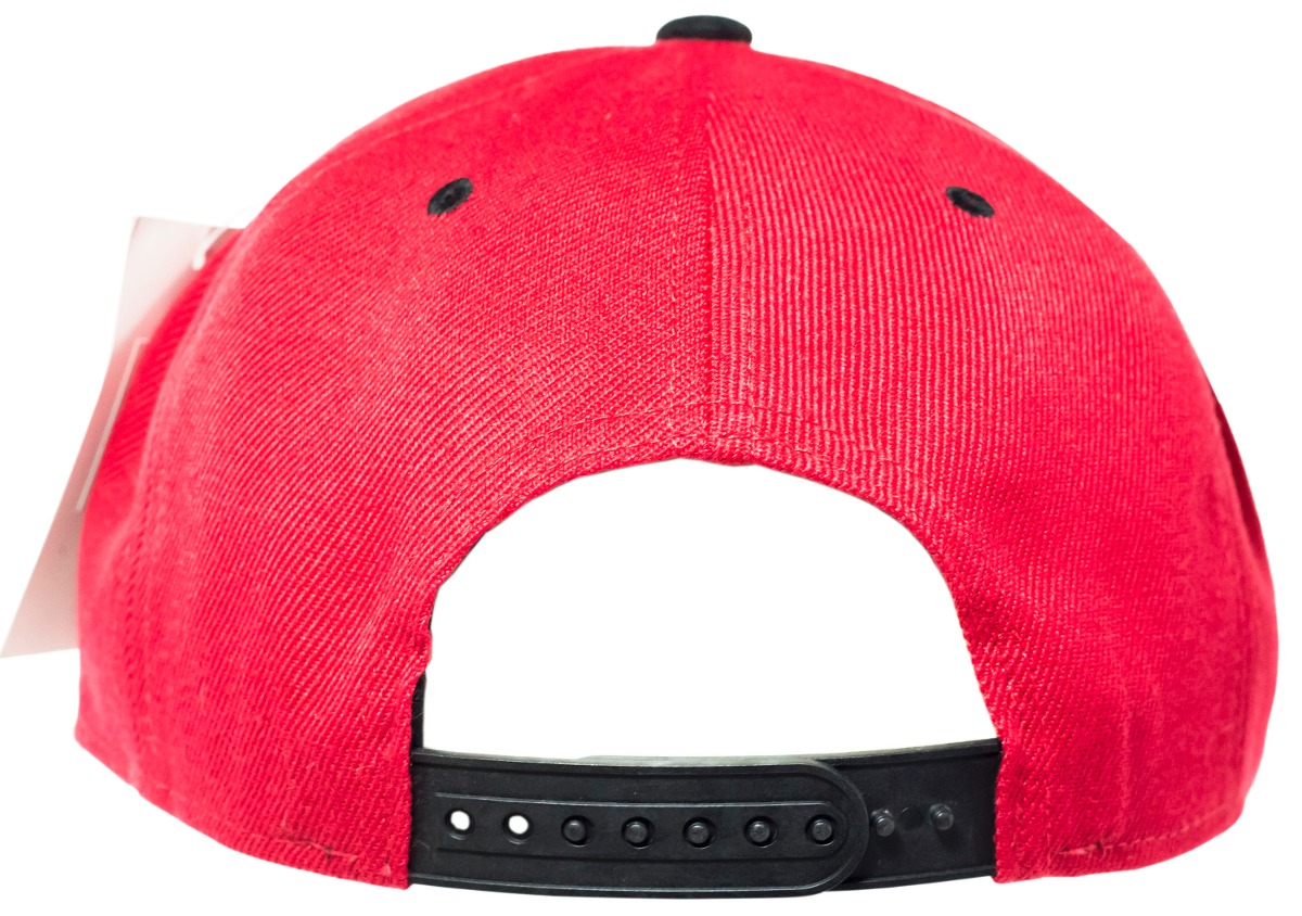 boné aba reta aberto snapback brim vermelho   preto. Carregando zoom. 3fac2f7efa3