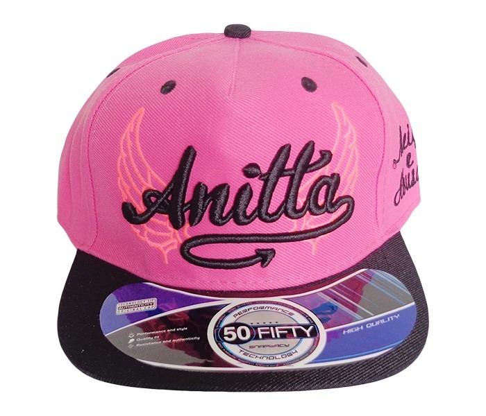 Boné Aba Reta Anitta Rosa E Preto - R  39 1025d225f52