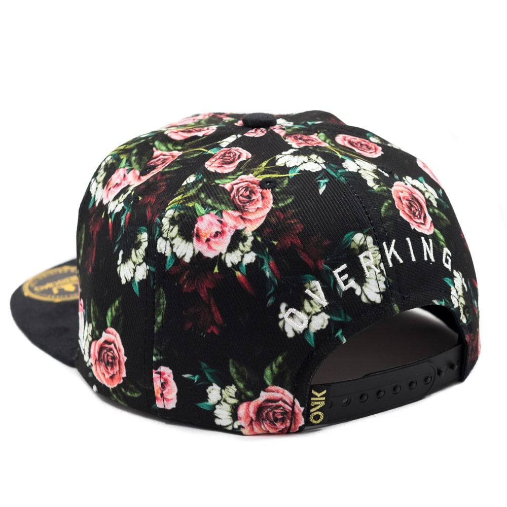 boné aba reta barato overking snapback floral collection. Carregando zoom. af4f67e2265