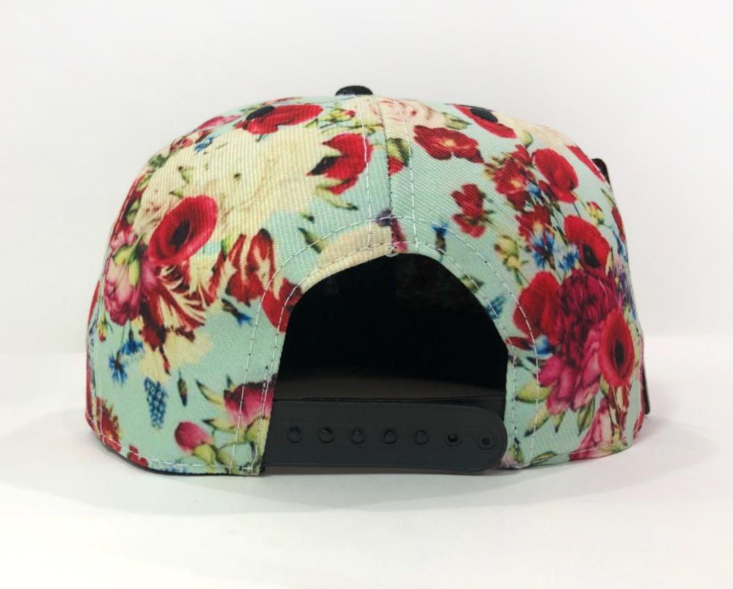 bone aba reta camurça original feminino florido floral top. Carregando zoom. 6bbd6ef3c1a44
