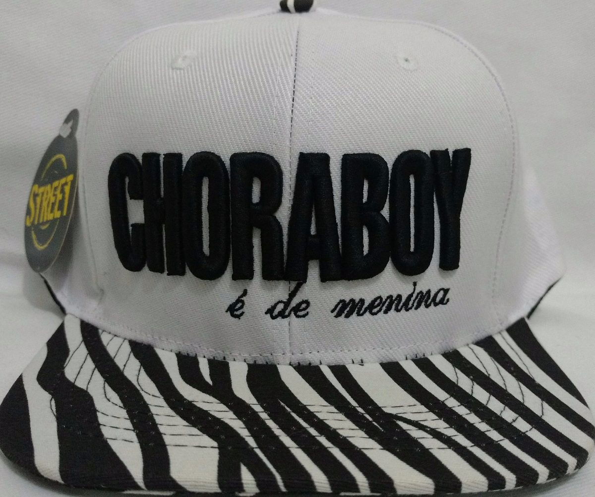 ebf127c11828e boné aba reta choraboy é de menina aba de zebra c regulagem. Carregando zoom .