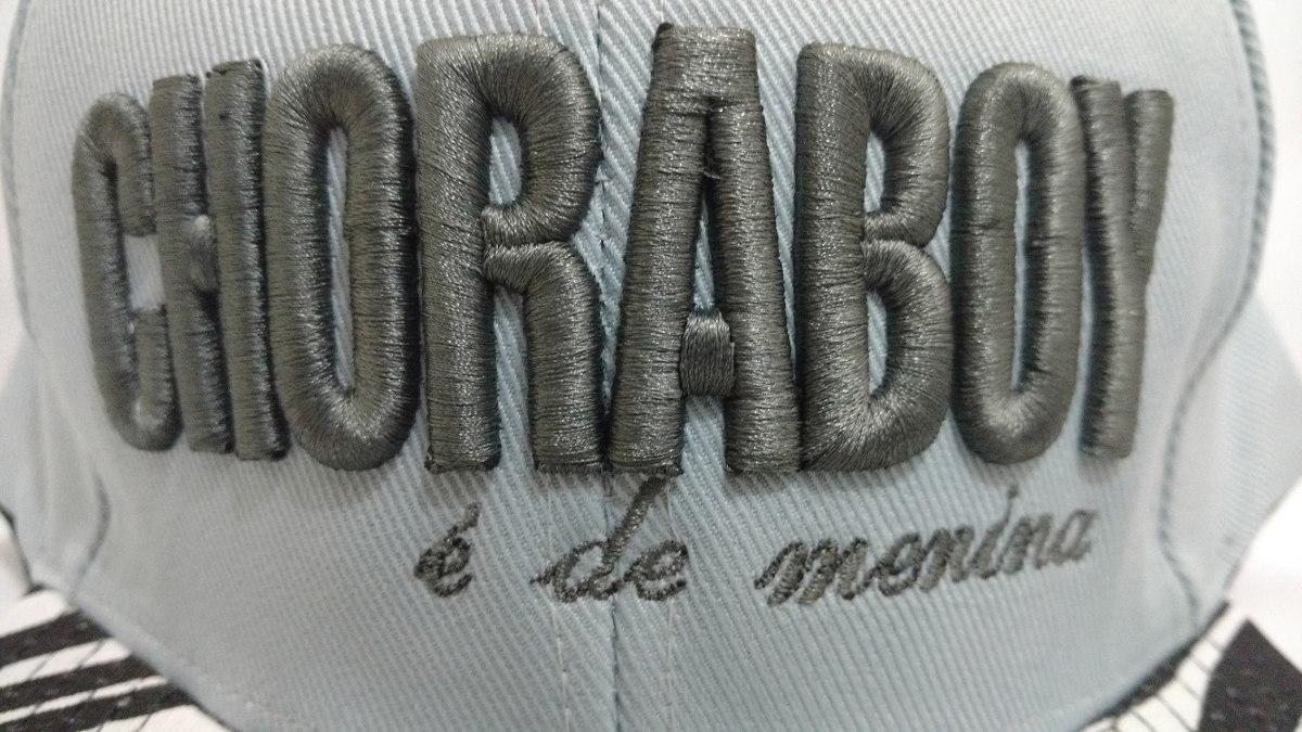 c0d9a1d43778d boné aba reta choraboy é de menina aba zebra com regulagem. Carregando zoom.