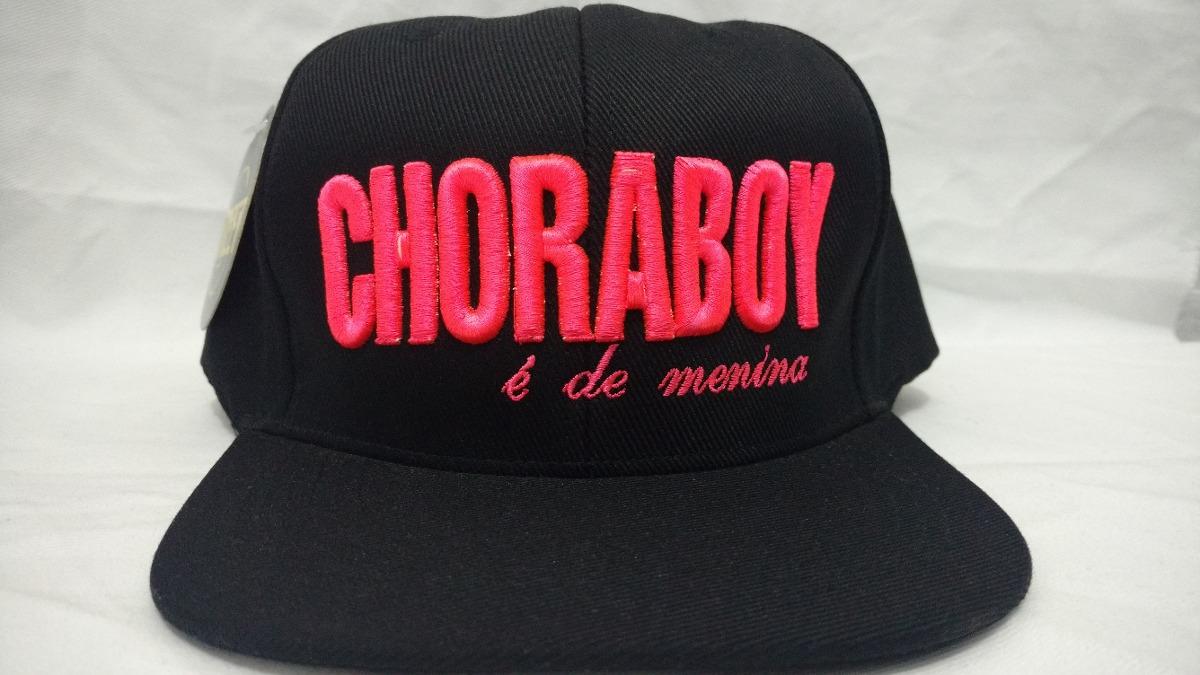 18f870144f6bf Boné Aba Reta Choraboy É De Menina Bordado Pink E Regulagem - R  29 ...