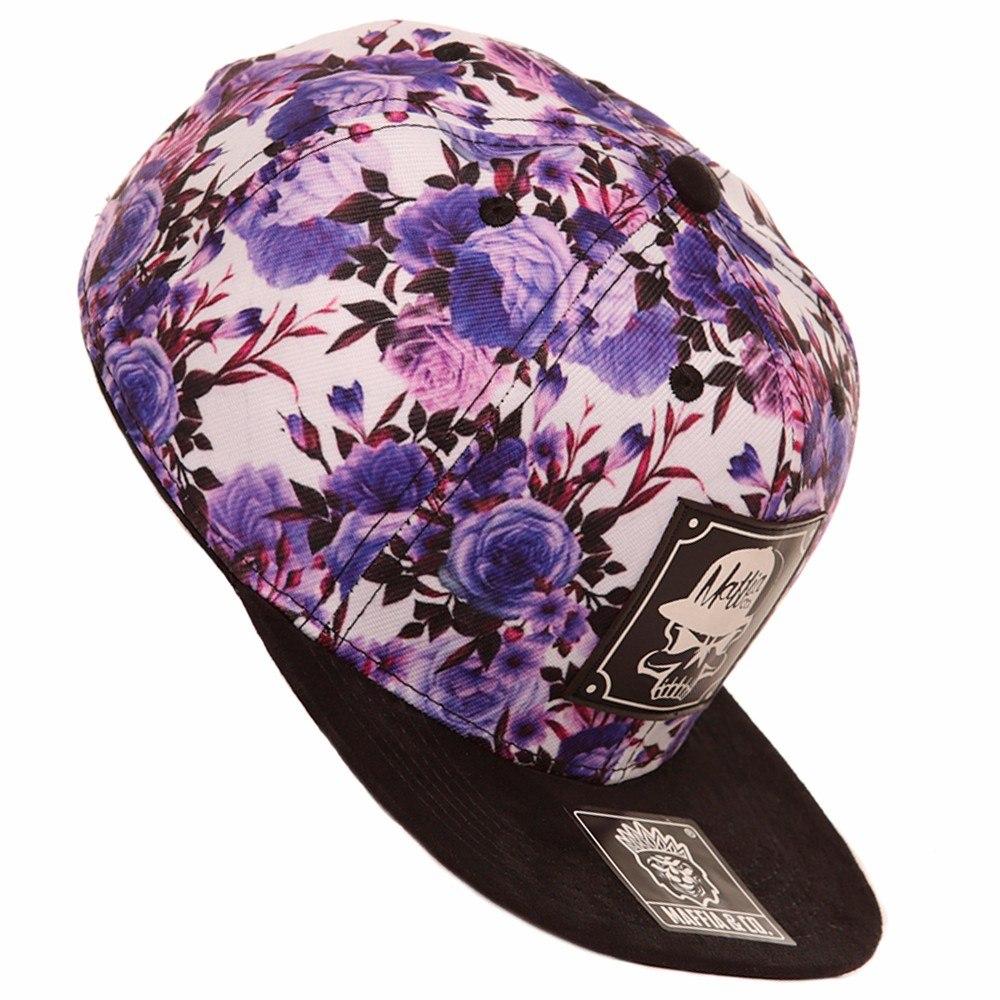 boné aba reta e camurça snap back floral florido e caveira. . Carregando  zoom. ec65c4b3be7d8