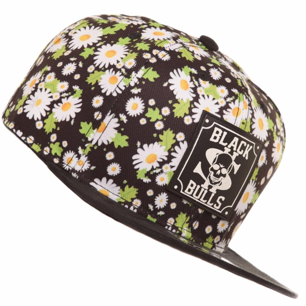 boné aba reta e camurça snap back floral florido e caveira.4. Carregando  zoom. 912891ce37471