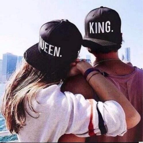 99e55eabfa Boné Aba Reta King E Queen Moda Para Casal Frete Grátis - R  65