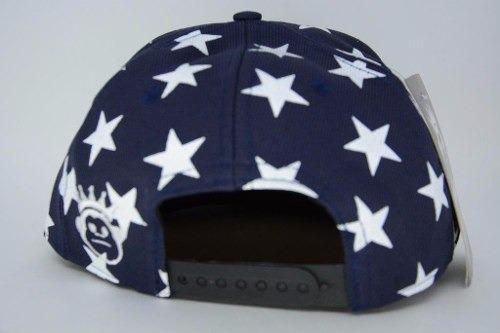 1e88590f5a405 Boné Aba Reta Kings Sneakers Azul Estrelas Macaco Snapback - R  49 ...