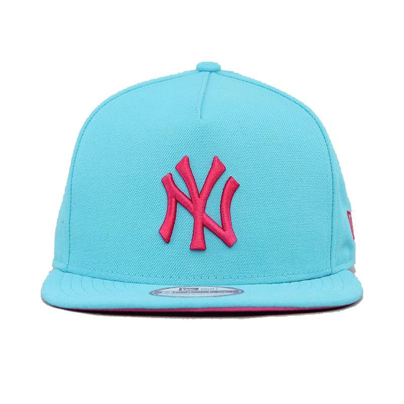 7dd9695cba693 Boné Aba Reta New Era York Yankees Azul rosa With Strapback - R  169 ...